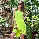 Платье молодежное из хлопка  размер  42 -48 цвет зеленый, фото 5