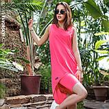 Платье молодежное из хлопка  размер  42 -48 цвет зеленый, фото 4