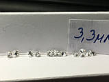 Кльцо с бриллиантом натуральным  3,3 мм  0,14 карат 3/5 200$, фото 2