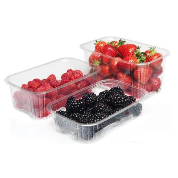 Пластиковый лоток для упаковки ягод на 1 кг