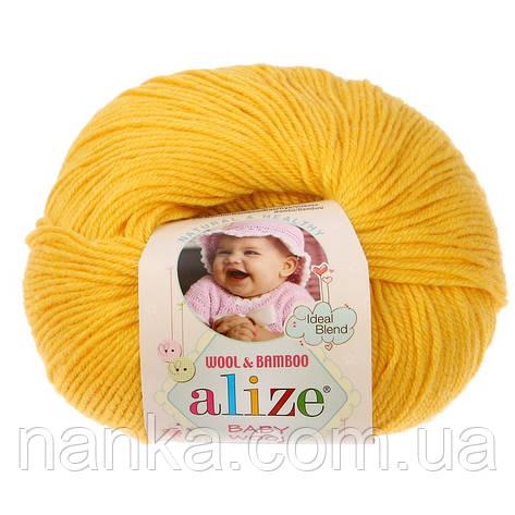 Alize, Baby Wool 216 желтый, фото 2
