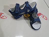 Босоножки 35р-22.8 смКОЖА!! Clibee синие