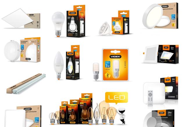 Лампочки, освещение для улицы и помещений