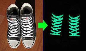 Люминесцентные (светящиеся) шнурки в темноте -2 шт. (зелёные/розовые), фото 2