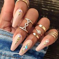 Набір кілець на фаланги пальців в золоті, фото 1