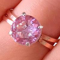 Серебряное кольцо с золотыми накладками с султанитом ПН-153