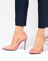 Туфли лодочки на шпильке цвета темной пудры, фото 1