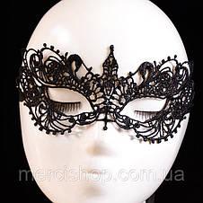 """Чёрная кружевная маска для лица """"Нежность"""", фото 2"""