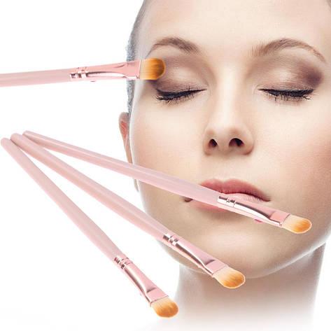Набор из 6 шт. одинаковых кистей для макияжа (маленькая лопатка:тон/тени/корректоры/и др.), фото 2
