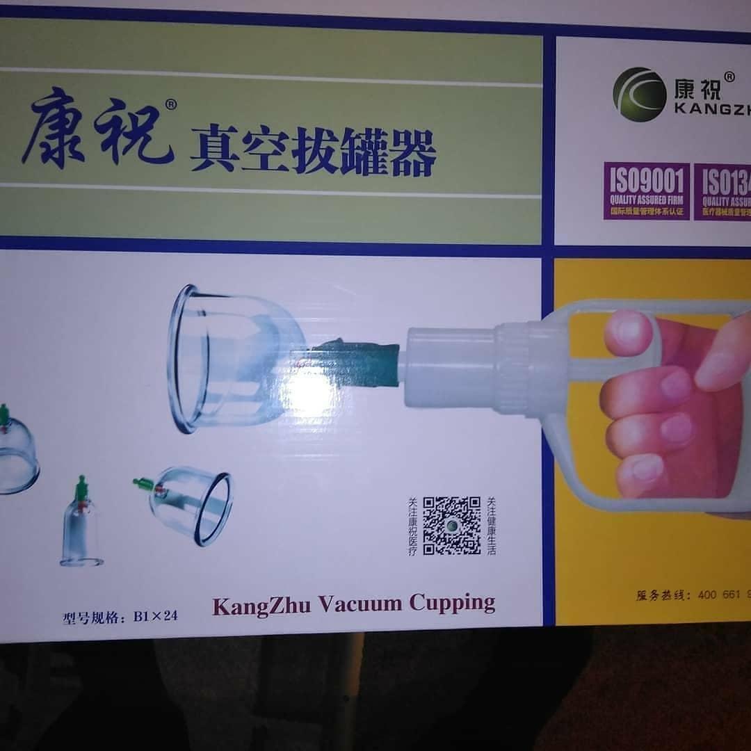 Вакуумные банки 24 шт кангшу вакуумні масажні банки з насосом kangzhu vacuum cupping