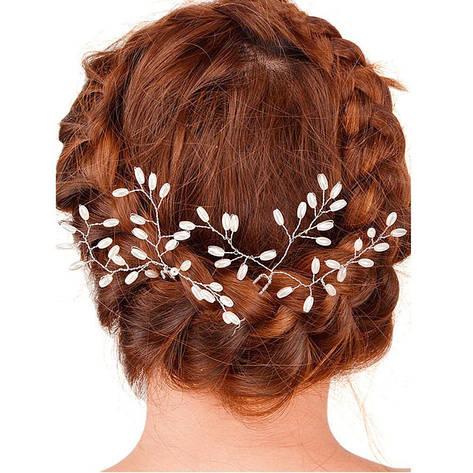 Красивое свадебное/вечернее украшение в волосы (на шпильке), ручная работа (Hand Made), фото 2