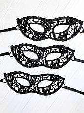"Чёрная кружевная маска для лица ""Карнавал"", фото 3"