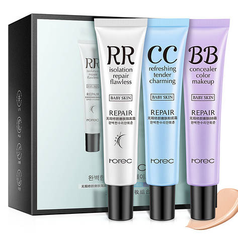 Набор из 3х кремов для идеального макияжа (RR, CC, BB), 3*30г, фото 2