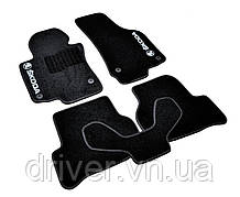 Килимки текстильні  для Skoda Octavia A5 (2004-2013) /Чорні, кт. 5шт BLCCR1561