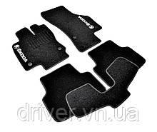 Килимки текстильні  для Skoda Octavia A7 (2012-) /Чорні, кт. 5шт BLCCR1563
