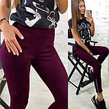 """Жіночі замшеві штани з високою талією """"Loft"""", фото 2"""
