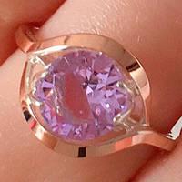 Серебряное кольцо с золотыми накладками с султанитом ПН-154