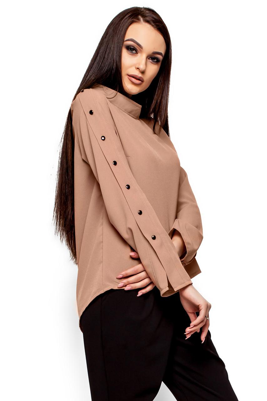 (S, M, L) Вишукана бежевий блузка Vermut