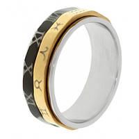Мужское кольцо из стали Антистресс 6 мм 101646