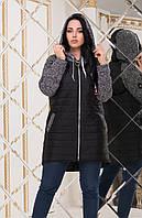 "Демисезонная куртка на молнии ""Melange""| Норма и батал, фото 1"