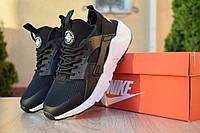 Кроссовки женские Nike Huarache весна лето удобные повседневые найки из сетки+пена в черном цвете, ТОП-реплик, фото 1