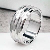 Обручальное кольцо из медицинской стали Грани 8 мм 101647