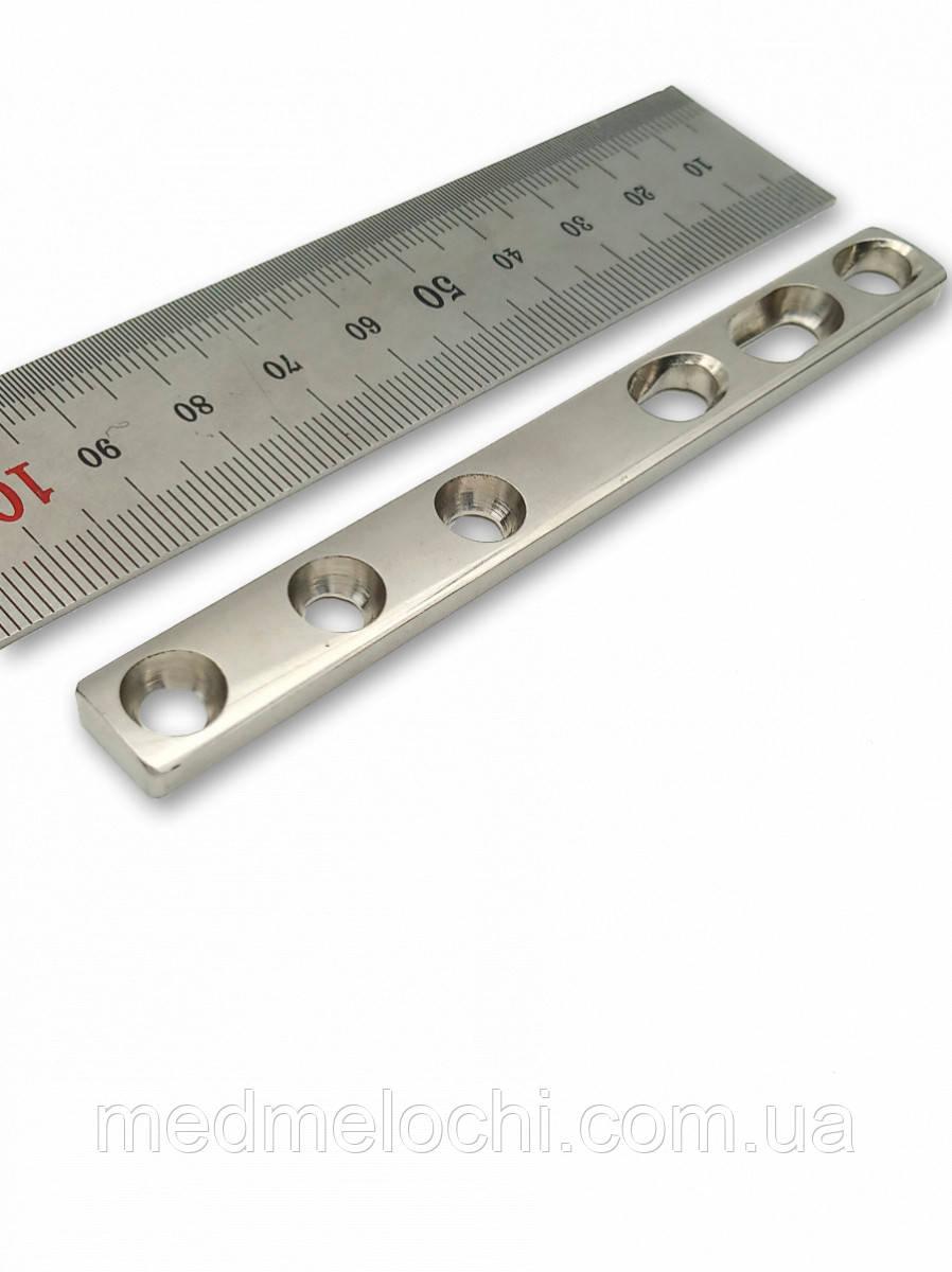 Пластина однорядка 4мм з компр. отвором L = 103мм, D = 4,5 мм, 6 отв,