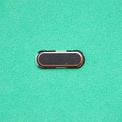 Пластик кнопки меню для Samsung N9005 Galaxy Note 3 черный с золотом