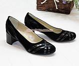 Женские комбинированные туфли на каблуке, фото 2