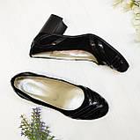Женские комбинированные туфли на каблуке, фото 4