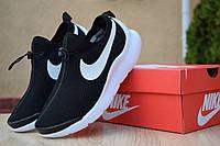 Женские кроссовки Nike Air Max Tavas лето легкие найки без шнуровки для тренировок черные, ТОП-реплика, фото 1
