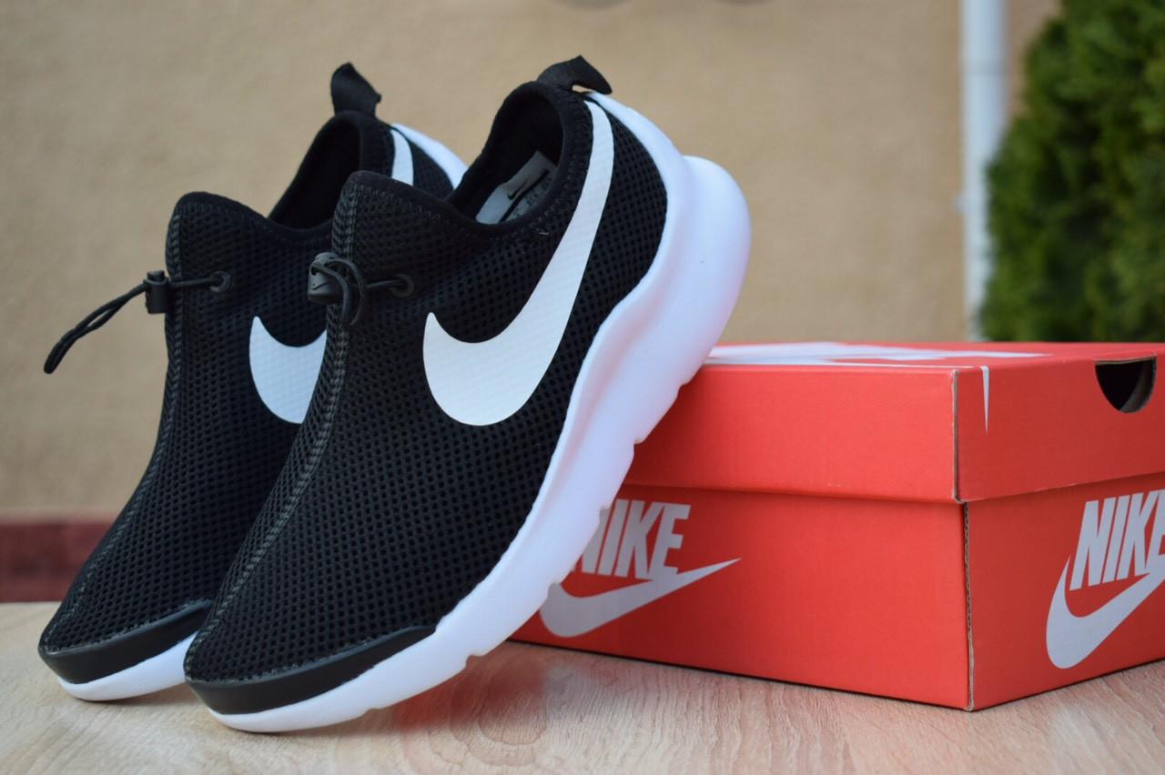 Женские кроссовки Nike Air Max Tavas лето легкие найки без шнуровки для тренировок черные, ТОП-реплика