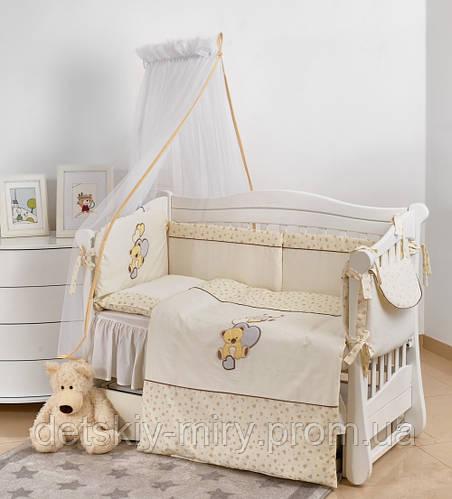 Комплект детской постели Twins Romantic 7 элементов R-006 Teddy Love