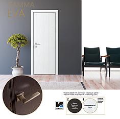 Двери Gamma EVA. Полотно+коробка+2к наличников+добор 77мм, срощенный брус сосны, эко-шпон, фото 2