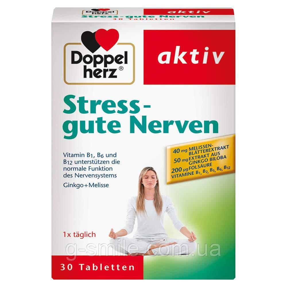 Для нормальной функции нервной системы Doppelherz Stress - gute Nerven, 1 х 30 таблеток