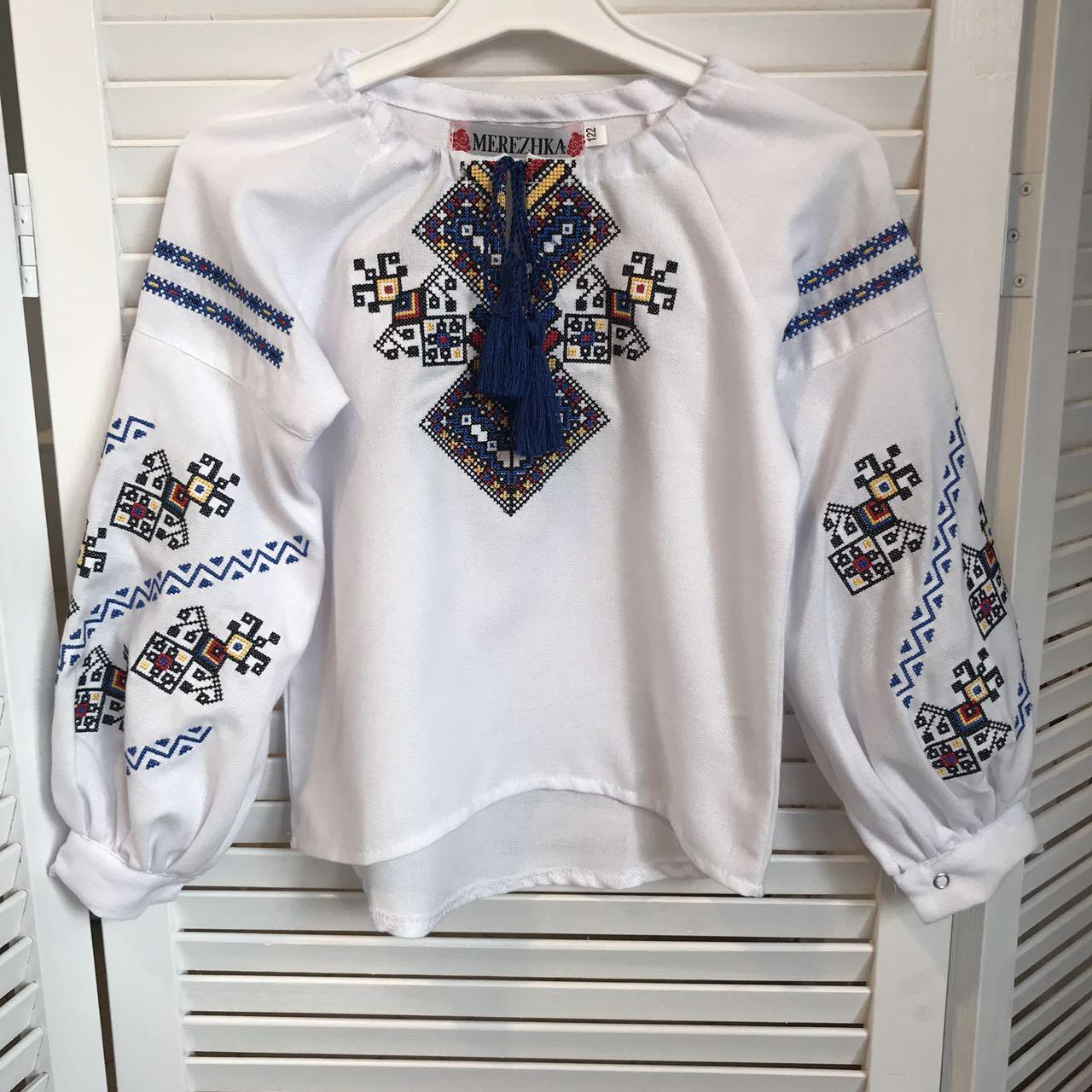 Блуза с вышивкой для девочек Судьба от 6 до 13 лет
