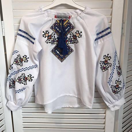 Блуза с вышивкой для девочек Судьба от 6 до 13 лет, фото 2