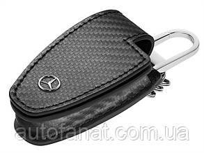 Оригинальный кожаный футляр для ключей Mercedes-Benz Key Wallet Gen.5, Carbon (B66958407)