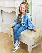 Блуза с вышивкой для девочек Звезда от 6 до 13 лет