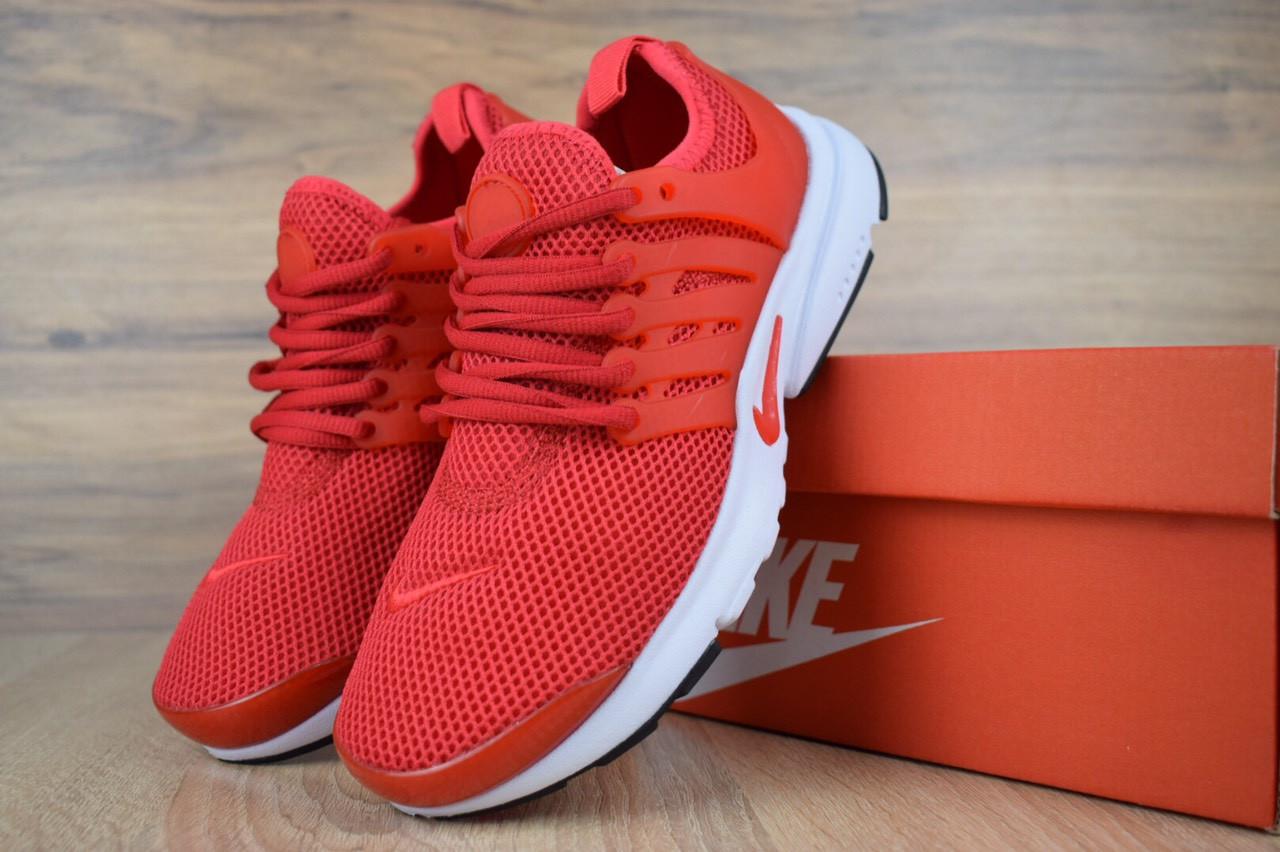 Кроссовки женские Nike Air Presto текстиль легкие удобные спортивные найки для тренировок красные, ТОП-реплика