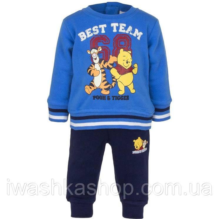 Теплый костюм на мальчика с Винни и Тигром, свитшот и штаны, р. 67 на 6 месяцев, Disney baby
