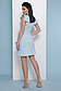 Короткое летнее платье на запах в полоску с рюшами 069, фото 2