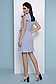 Короткое летнее платье на запах в полоску с рюшами 069, фото 4