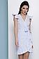 Короткое летнее платье на запах в полоску с рюшами 069, фото 5