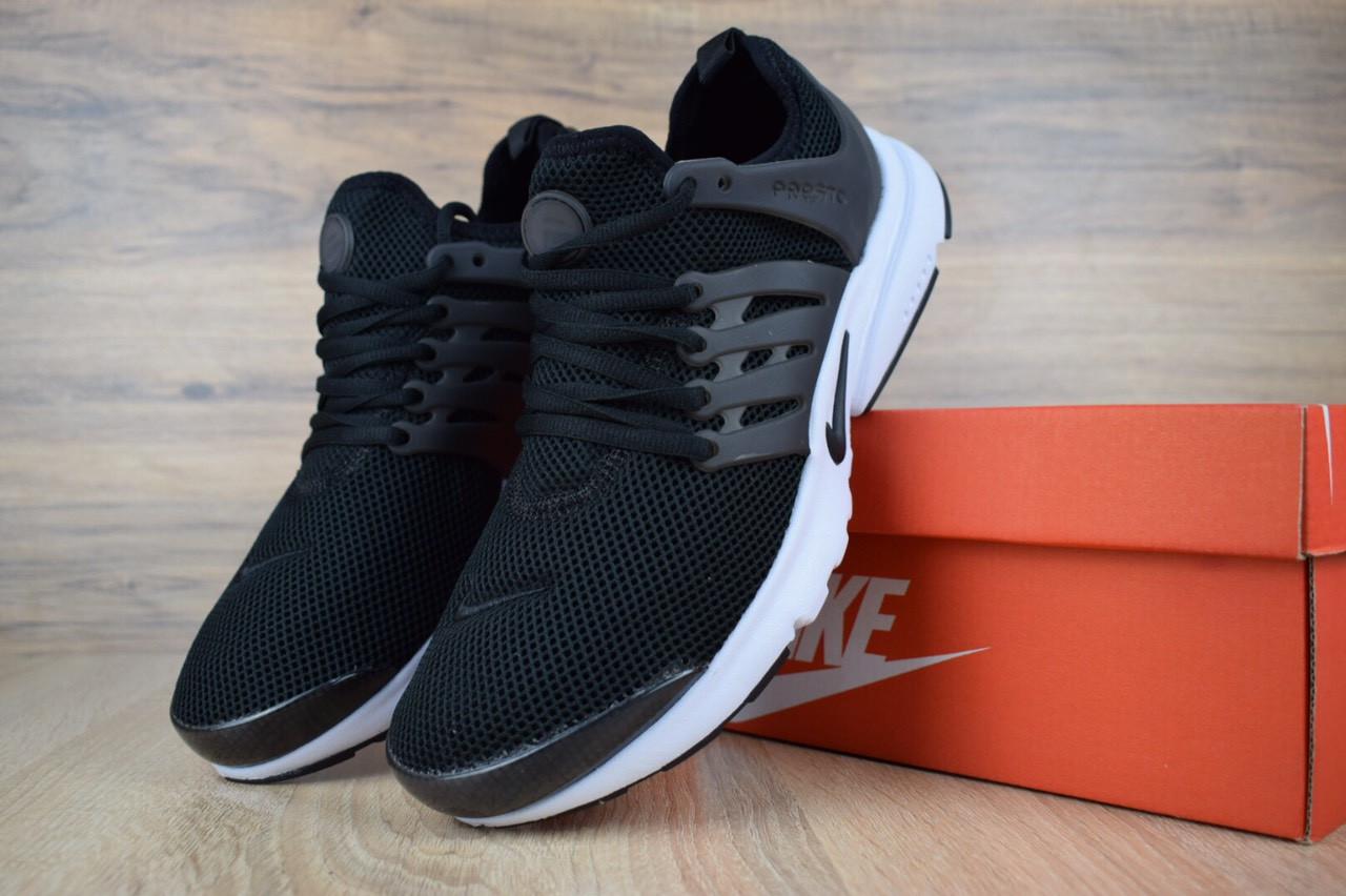 Женские кроссовки Nike Air Presto летние из текстиля удобные практичные найки для зала черные, ТОП-реплика
