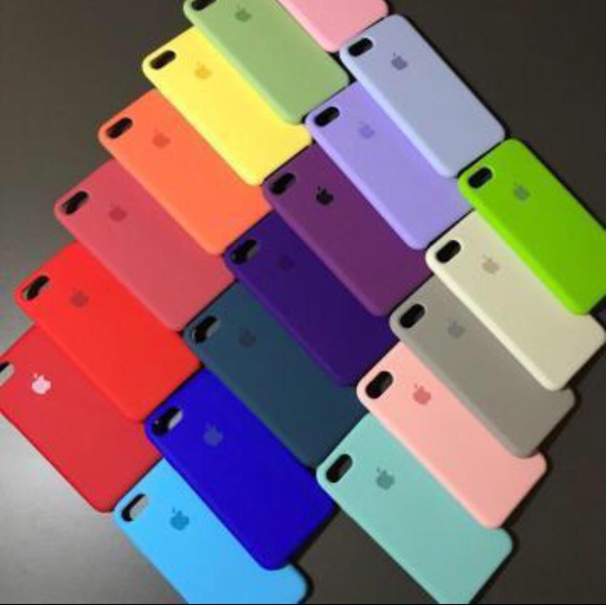 Силиконовый чехол для IPhone Silicone Case 6/7/8/Plus/X айфон