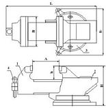 Тиски слесарные стальные ТСС-160, фото 3