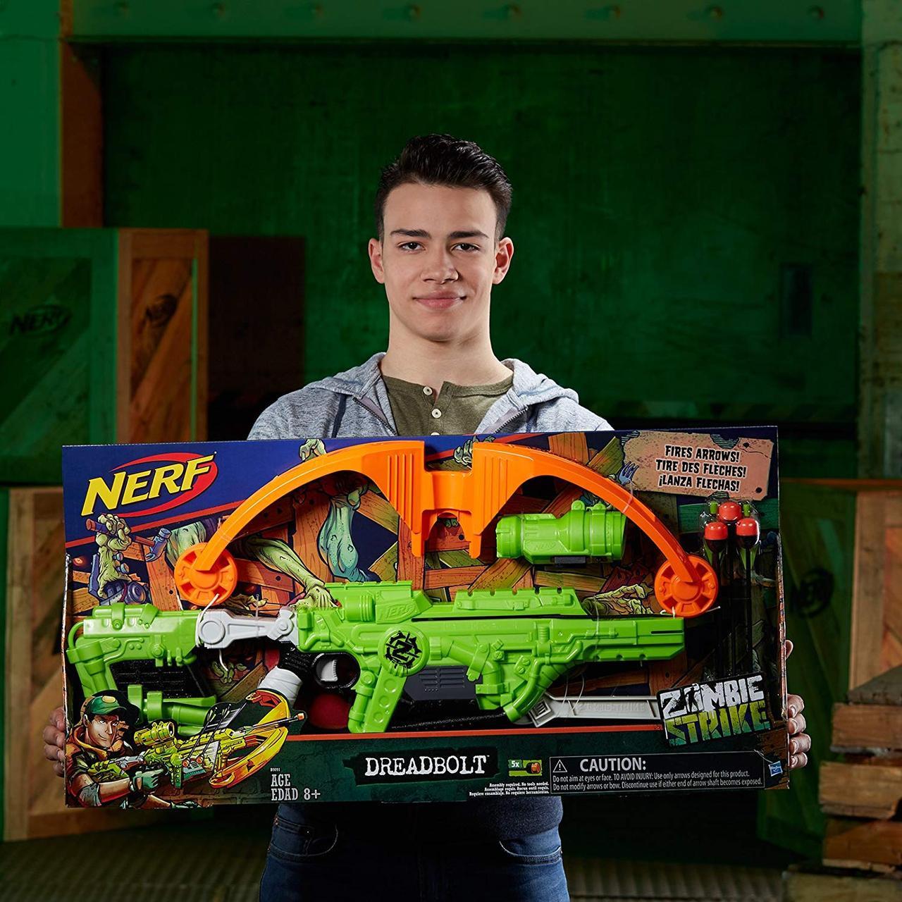 Бластер-арбалет Nerf Zombie Strike Dreadbolt Зомби Страйк Нерф Дредболт Hasbro B9091, фото 1