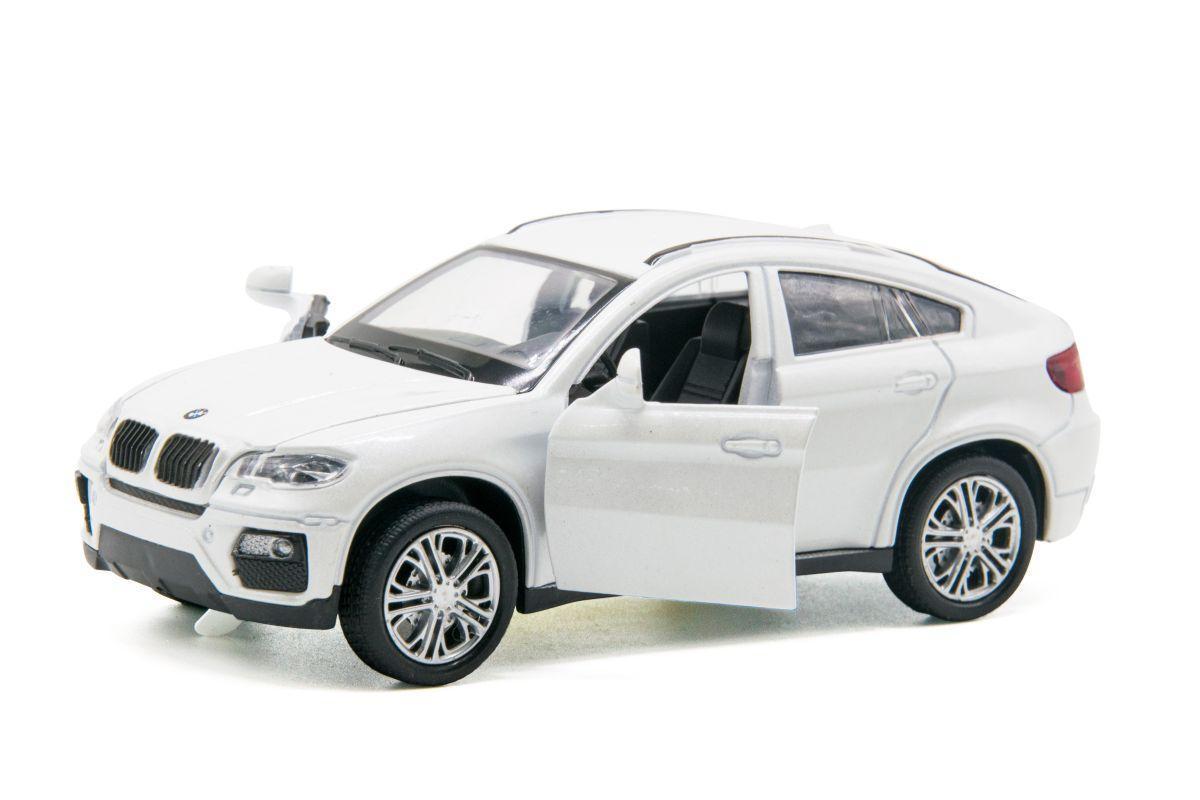 Машинка металлическая BMW X6 (белая)