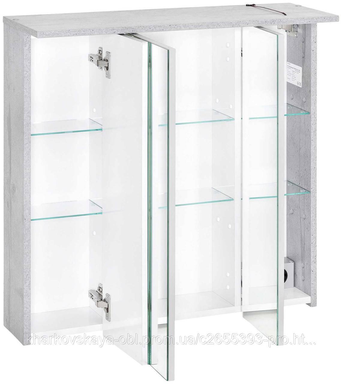 Настенный зеркальный 3D шкаф для ванной комнаты. Германия.